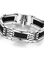 Fashion Men Titanium Steel Magnetic Bracelet Business Bangle Health Wristband Link Chain Luxury Jewelry