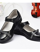 Girls' Shoes Dress / Casual Boat / Round Toe Leather Boat Shoes Black