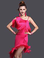 Vestidos ( Preto / Fúcsia / Royal Blue , Poliéster / Licra , Dança Latina / Espetáculo ) - de Dança Latina / Espetáculo - Mulheres