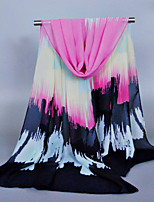 Women's Chiffon Colorful Print Scarf