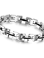8.6 Inch Top Quality Health Men Bracelet Bangle Stainless Steel Magnetic Care Jewelry Black and Silver