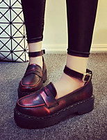 Women's Shoes Vintage Preppy Style Flange Pump Platform Comfort / Closed Toe Loafers Dress / Casual