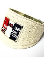Beige - Retractable - Piel Genuina/Textil - Collar - Perros/Gatos -