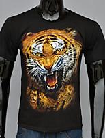 Short-sleeved t-shirt tiger head