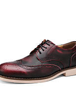 Men's Shoes Office & Career / Casual Leather Oxfords Blue / Burgundy