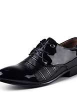Men's Oxfords Spring / Fall Comfort Pigskin Casual Flat Heel  Black / Brown Sneaker