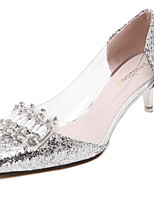 Women's Shoes Glitter Stiletto Heel Heels / Pointed Toe / Closed Toe Heels Wedding /  Party & Evening / DressSilver /