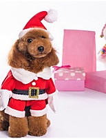 New Christmas Pet Coats with Hat for Dogs / Cats