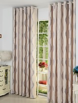 Two Panels As Per Picture Stripe Poly / Cotton Blend Panel