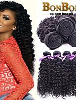 4bundles pelo humano indio tejiendo bastante rizado rizado 8