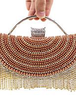 Women Satin Minaudiere Clutch / Evening Bag - Gold / Silver / Black