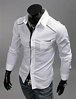 Men's Long Sleeve Shirt , Cotton Casual Pure