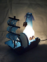 Sailing Home Decoration Wooden Toys Crafts Table Lamp Bedroom Bedside Personalized Ornaments