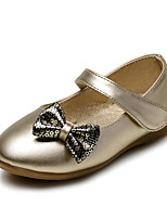 Baby Shoes Wedding / Outdoor / Dress / Casual Leatherette Flats Silver / Gold