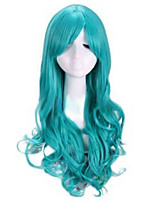 Cartoon Explosion Models of High-Quality High-Temperature Wire Green Curly Wig