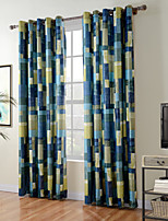 TWOPAGES Diana Collection Patchwork Thick Knit 850GSM Velvet Hand Feel Curtain Panel Drape (One Panel)