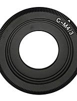 Black C mount Lens to Micro 4/3 Adapter E-P1 E-P2 E-P3 G1 GF1 GH1 G2 GF2 GH2 G3 GF3 C-M4/3