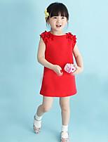 Girl's Cotton Blend Dress Summer Sleeveless
