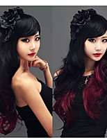 New Fashion Gradient Sexy Oblique Bangs Long Hair Wig Halloween Wig