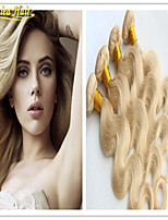3 Pcs/Lot Blonde Color 613# Brazilian Virgin Hair Body Wave Human Hair Weave Bundles Brazilian Body Wave Hair Extension