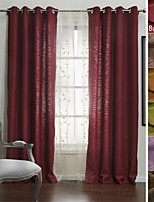 TWOPAGES Sophia Collection Solid Slub Polyester Cotton Blend Faux Linen Curtain Drape (One Panel)
