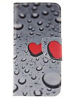 Drops of Water Painted PU Phone Case for iPhone 7 7 Plus 6s 6 Plus SE 5s 5c 5 4s 4