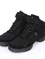 Для женщин Танцевальные кроссовки Полотно Кроссовки Для открытой площадки Плоские Черный 2,5 - 4,5 см Персонализируемая