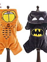 FUN OF PETS® Cute Cartoon Cat and Batman Shaped Costume Jumpsuit with Hoodie for Pets Dogs (Assorted Sizes and Colours)