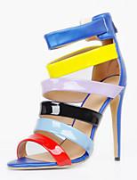 Women's Sandals Summer Heels / Sandals / Open Toe Party & Evening / Dress / Casual Stiletto Heel Zipper Blue Others