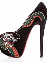 Women's Shoes Fleece Stiletto Heel Heels Heels Wedding / Party & Evening / Dress Black