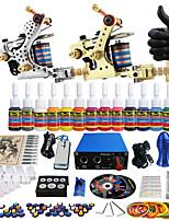 Solong Tattoo Complete Tattoo Kit 2 Pro Machine Guns 14 Inks Power Supply Needle Grips