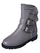 Women's Shoes Wedge Heel Round Toe Boots Casual Black / Brown / Gray