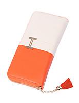 Bi-fold (due scomparti) - Portafoglio - Donna - PU - Blu / Arancione / Rosso / Nero