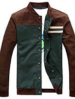 Men's Long Sleeve Jacket , Cotton Blend Casual / Sport Pure