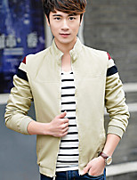 Men's Long Sleeve Jacket Cotton Casual Pure
