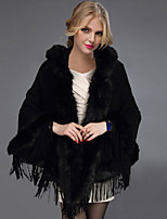 Women's Fashion Faux Fur Outerwear/Shawl & Wrap , Lined