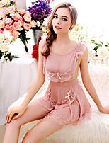 Vêtement de nuit Femme Uniformes & Tenues Chinoises Mousseline de soie / Dentelle