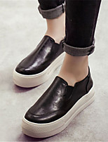 Women's Shoes Platform Round Toe Loafers Casual Black