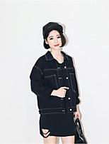 Damen Mantel - Retro Denim