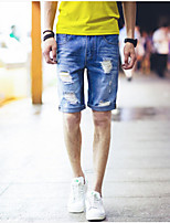 Men's Pure Sleeveless Short Pant , Cotton / Denim Casual / Work