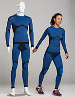 SPAKCT Unisex Long Sleeve  Cycling Suits  Compression Clothing Tights Limits Bacteria  Compression