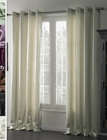 TWOPAGES Jackson Collection Solid Insulated Thermal Blackout Polyester Curtain Drape (One Panel)
