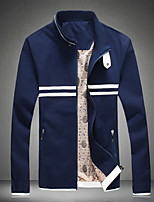 Men's Lapel Fashion Casual Striped  Long Sleeved Jacket