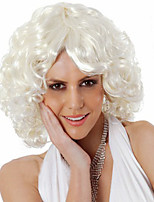 Fashion Festival in Europe and The Wig White Short Volume Quality Curly Hair