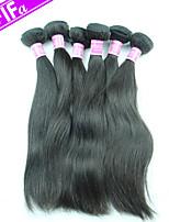 Peruvian Straight Hair Extension 5Pcs/Lot Virgin Remy Hair Weaves Color 1B