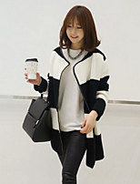 Women's Striped Black Cardigan , Casual Long Sleeve