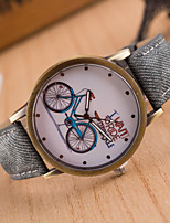 Women's European Style Bicycle Fashion Retro Casual Canvas Watches Cool Watches Unique Watches