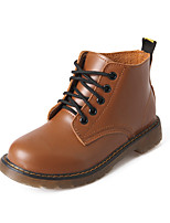 Women's Shoes Low Heel Combat Boots / Round Toe Boots Outdoor / Casual Black / Brown / Red