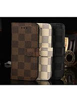 For iPhone 5 Case Wallet / Card Holder / with Stand / Flip Case Full Body Case Geometric Pattern Hard PU Leather iPhone SE/5s/5