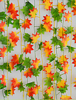 The Simulation Maple Cane Polyester Plants Artificial Flowers